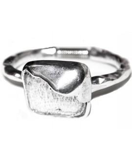 Pulsera para resina 30mm, zamak baño de plata
