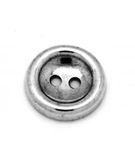 Botón 34mm, paso 4mm, zamak baño de plata