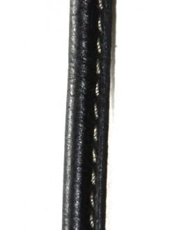 Cuero pespunte 8x5mm, precio por 50 cm