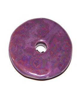 Donut cerámica morado 33mm, paso 5mm