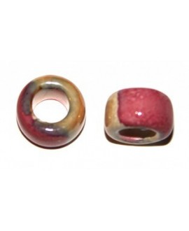 Tubo ceramíca  crema-rosa 15mm, paso 8mm