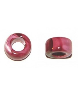 Tubo ceramíca fucsia-rosa 15mm, paso 8mm