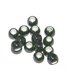 Cuentita de porcelana verde 4x5mm, paso 2,5mm, precio por 12 unidades