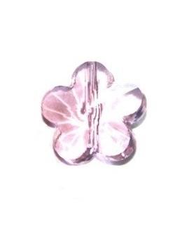 Entre-pieza flor rosa 6mm, paso 1mm