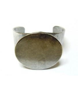Base anillo 22mm para cabujon de 20mm