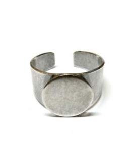 Base anillo 14mm para cabujon de 15mm