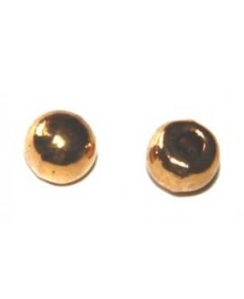 Terminal metal dorado 5mm, paso 2mm, precio por 20 unidades