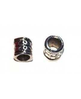 Entre-pieza tubito metal 6x5mm, paso 3mm, precio por 5 unidades