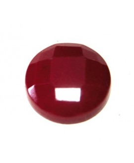 Cabujon jade rojo facetado 20mm