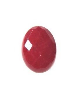 Cabujon jade rojo 18x13mm