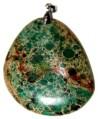 Colgante semi-preciosa verde, 48x45mm