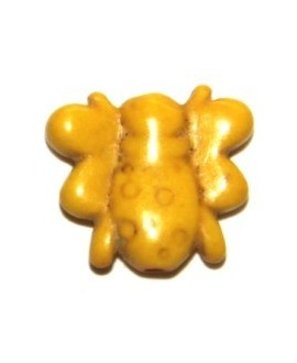 Howlita abejita amarillo 15mm, paso 1mm