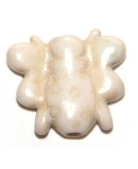 Howlita abejita blanco15mm, paso 1mm