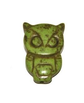 Howlita búho verde 30x19mm