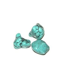 Turquesa piedra diferentes tamaños y formas, paso 2mm