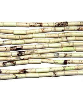 Turquesa Australia tubo 13x4mm agujero 1,2mm, 30 piezas por tira