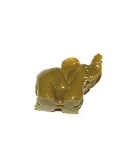 Entre-pieza resina elefantino pistacho 15x25 mm, paso 2mm