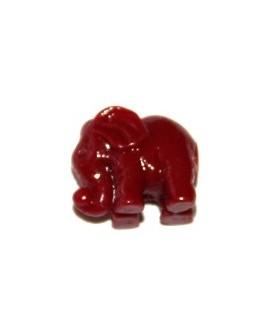Entre-pieza resina elefantino rojo 10x13 mm, paso 1mm