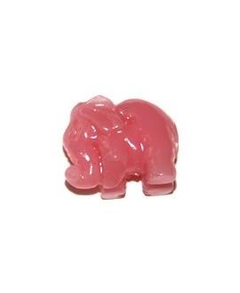 Entre-pieza resina elefantino rosa 10x13 mm, paso 1mm