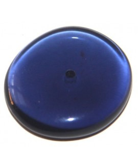 Donut resina plano transparente azul oscuro , 25mm, paso 1mm
