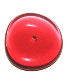Donut resina plano transparente rojo, 25mm, paso 1mm