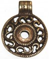 colgante hueso Pluma, 100 x 22mm