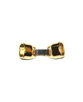 Cierre oval 37x13mm. Int. 11x7mm, baño oro