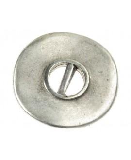 Donut irregular 23x23mm paso 3mm, zamak baño de plata