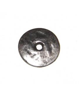 Donut 15mm paso 2mm, zamak baño de plata