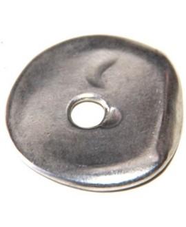 Donut irregular 30mm paso 5mm, zamak baño de plata