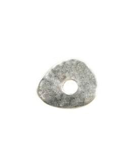 Donut ovalado 15x12mm paso 3mm, zamak baño de plata