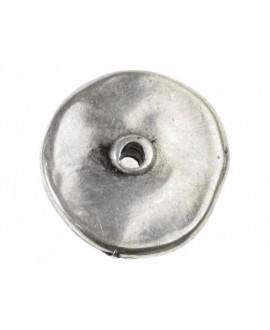 Donut 18mm paso 1mm, zamak baño de plata