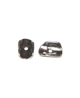 Donut 15x10mm, paso 2mm, zamak baño de plata