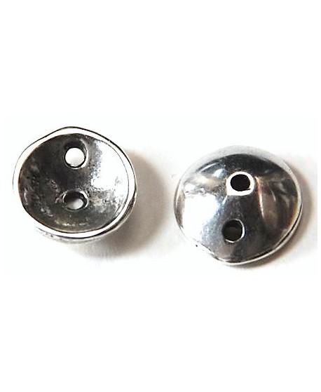 Entre-pieza 16mm paso doble 2mm, zamak baño de plata