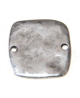 Entre-pieza 26mm paso 2mm, zamak baño de plata
