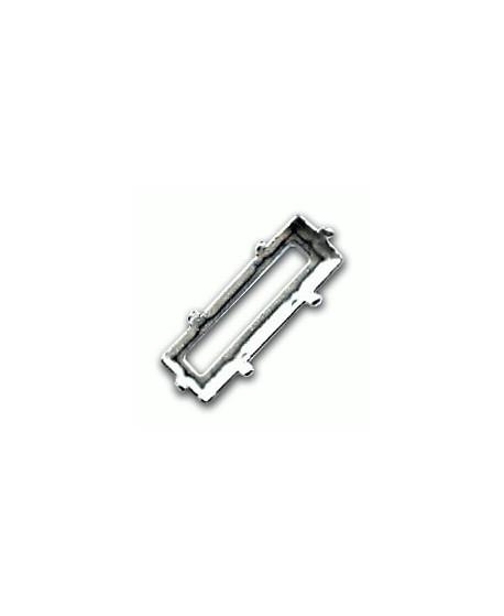 Engaste paso doble 1mm Princess Baguette 30x10mm