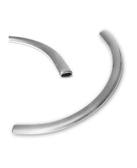 Medio collar 7x165mm, paso 5mm, zamak baño de plata