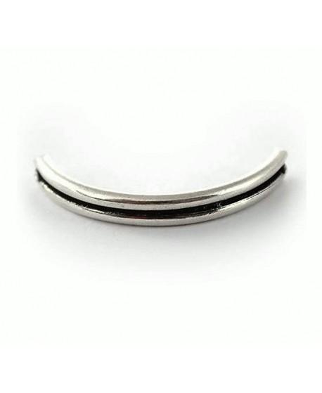 Media pulsera 44x6mm paso 1mm, zamak baño de plata