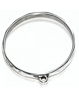 Pulsera 72mm con anilla , zamak baño de plata
