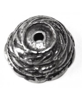 Capuchón 16mm paso 1,5mm, zamak baño de plata