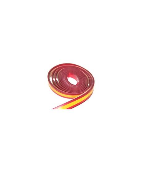 Cuero bandera de España 15x2mm, precio por metro