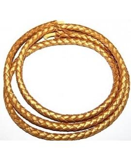 Cuero dorado 6mm, precio por 20cm