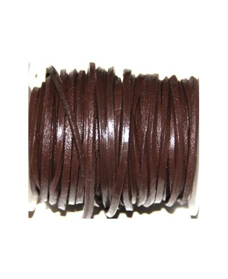 Cuero cuadrado marrón 4mm, venta por metro