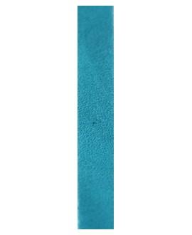 Cuero hecho en España azul 10mm, precio por 20cm,