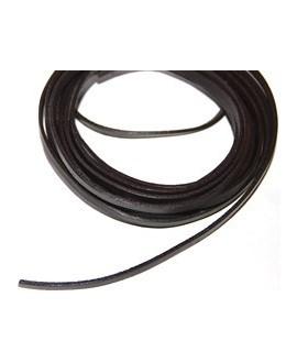 Cuero plano 5x1,5mm marrón oscuro, precio por metro