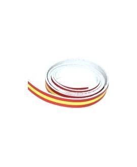Cuero bandera de España 15x2mm, precio por 20cm, hecho en España