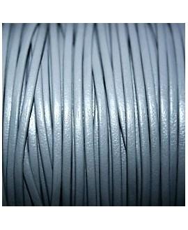 Tira cuero doblado alta calidad 2mm gris, precio por metro