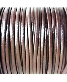 Tira cuero doblado alta calidad 2mm marrón, precio por metro