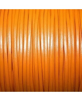 Tira cuero doblado alta calidad 2mm naranja, precio por metro