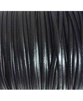 Tira cuero doblado alta calidad 2mm negro, precio por metro